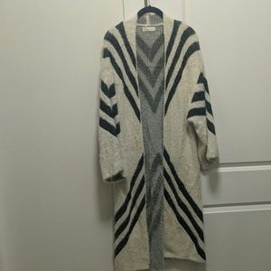 Chevron duster cardigan